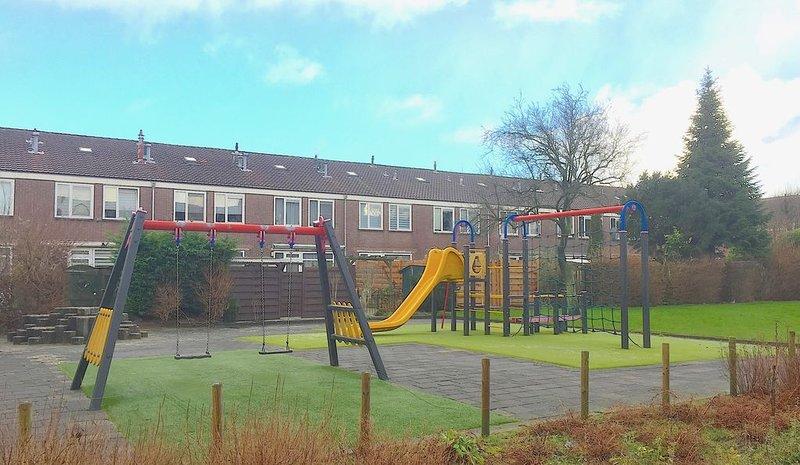 Children playground very closeby