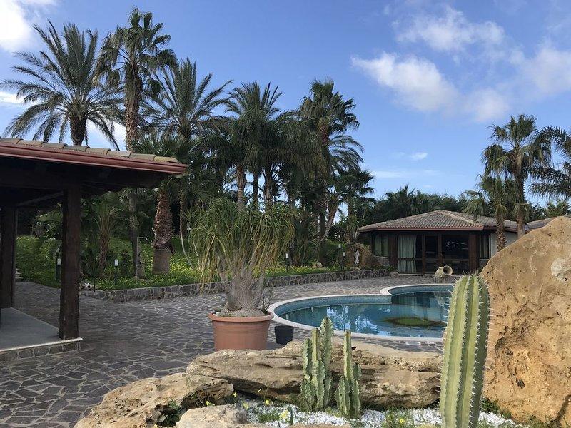 LUSSO IN VILLA PRIVATA  ,PISCINA ,IN SICILIA VICINO MARE E PALERMO CLIMATIZZATA, holiday rental in Montelepre