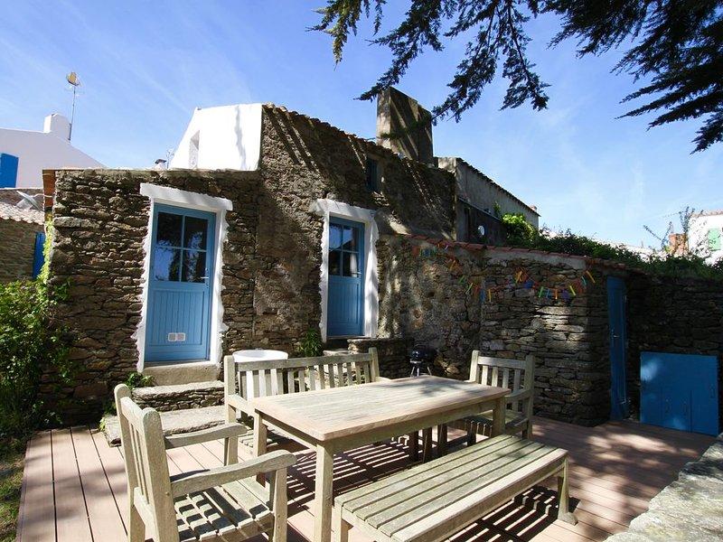 La Meule - 9 Ker Arnaud - 2 chambres + chambre en mezzanine - Jardin, vakantiewoning in Ile d'Yeu
