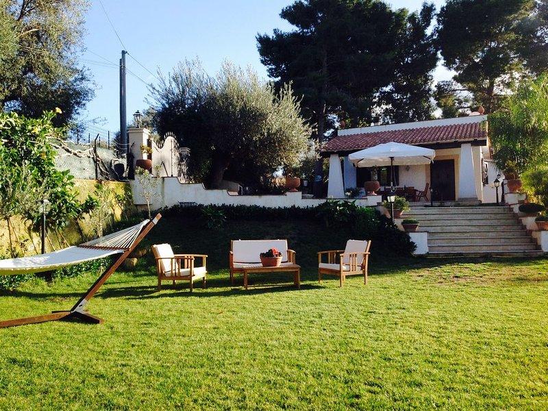 La VILLA sulla NOTO BAROCCA, con piscina e 2000 mq di giardino, a 5 minuti dall', holiday rental in Piccio
