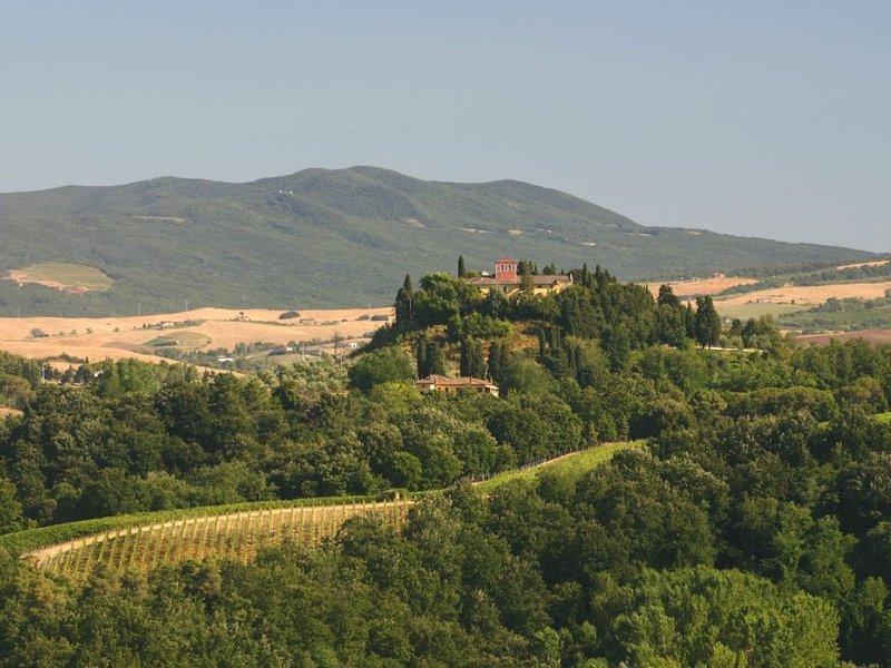 Tuscan Villa Apartment with pool & airconditioning in hillside village near Pisa, holiday rental in Cevoli di Lari