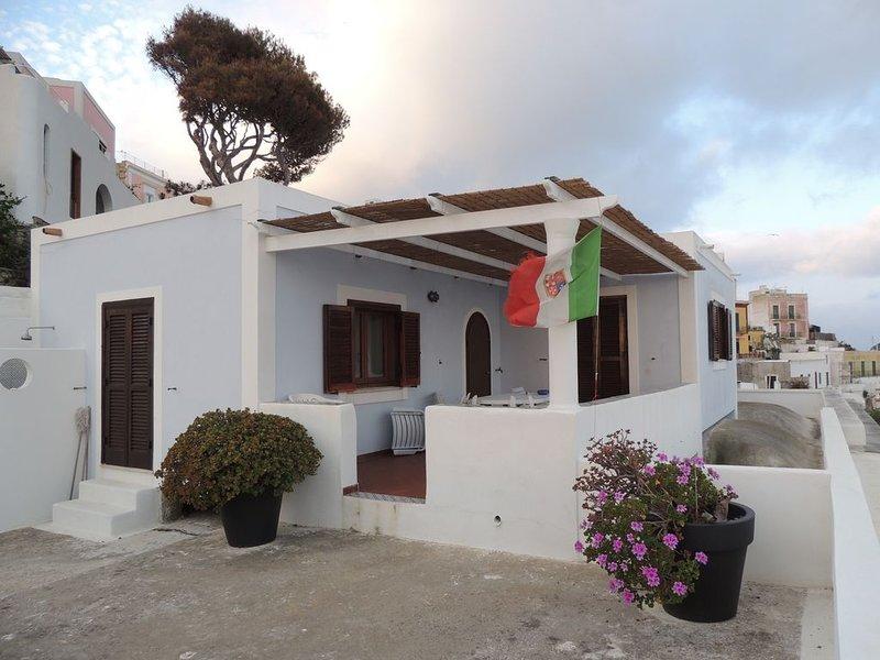 Ponza porto, Casa prestigiosa, grande terrazzo e strepitosa vista mare, location de vacances à Île de Ponza