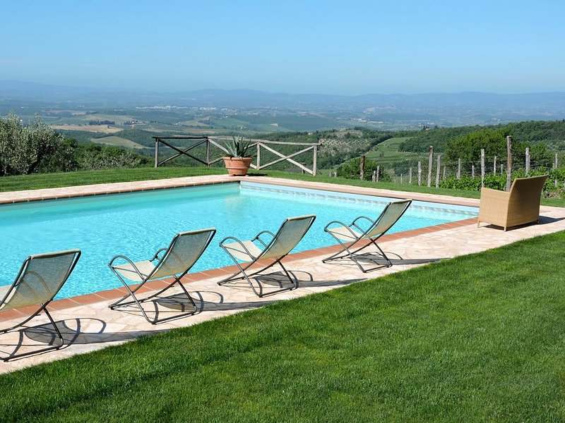 Ancient farm situated in the heart of the Chianti Classico Senese, Pool and View, vacation rental in Castellina In Chianti