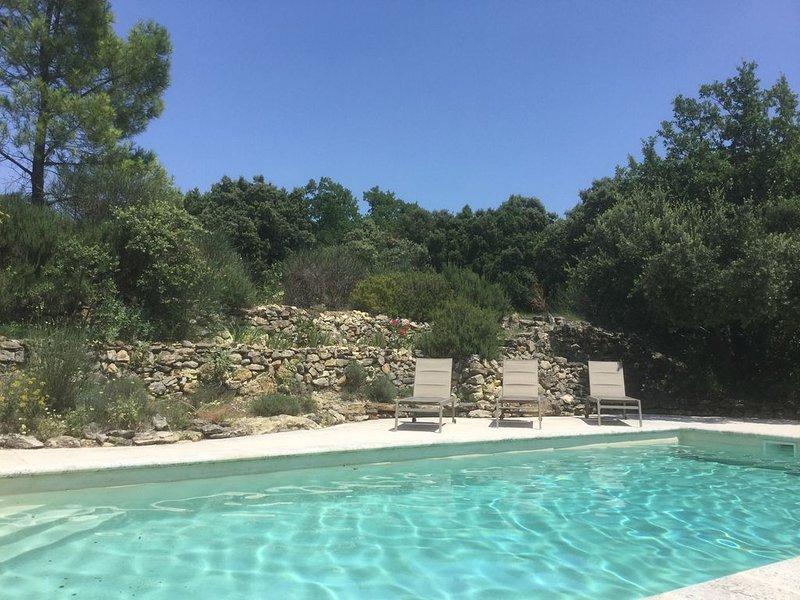 Mas de charme (région d'Uzès) avec piscine  (10x5 m) coup de cœur aumilieudes vi, location de vacances à Cavillargues