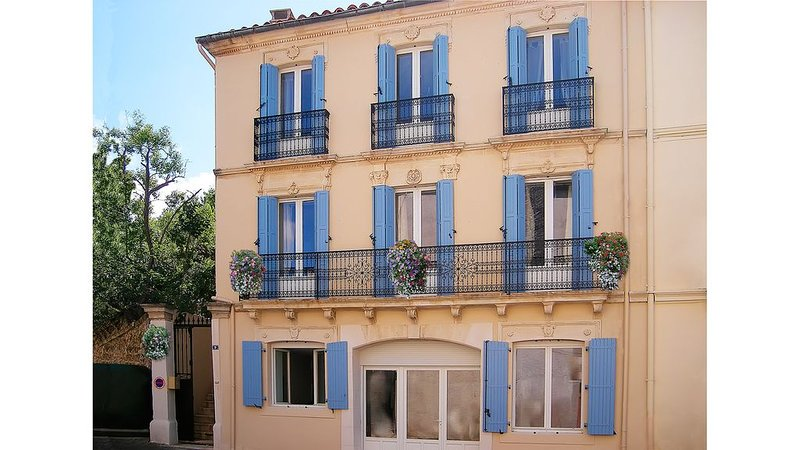 Beautifully restored large winemakers house with pool and air conditioning, holiday rental in Causses et Veyran