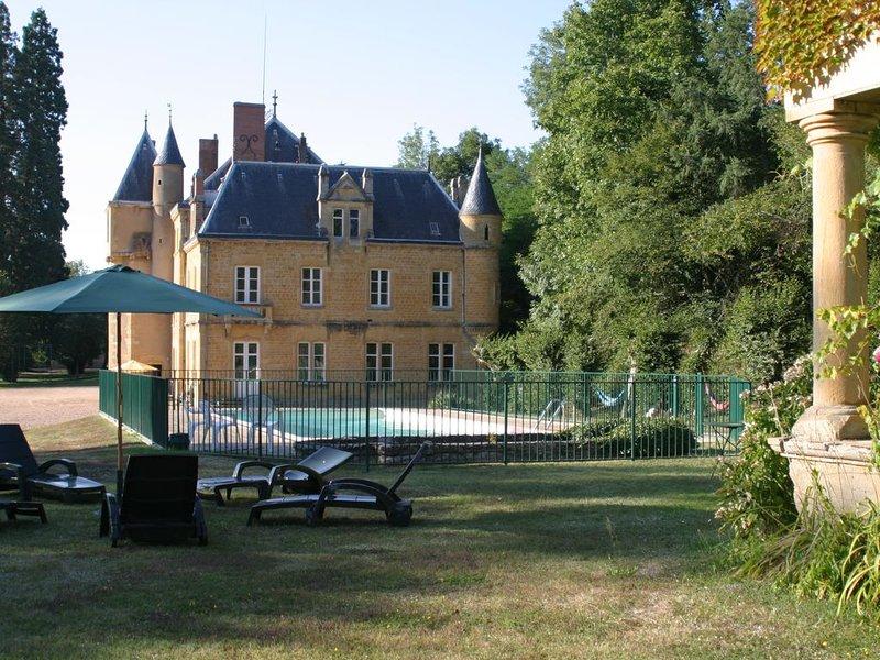 Château - piscine privée -possibilité pour 32 personnes  (dépendances pour 12), holiday rental in Paray Le Monial