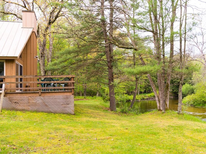 Cozy Cabin on Pere Marquette River Great For Fishing on 700 Acres, casa vacanza a Irons