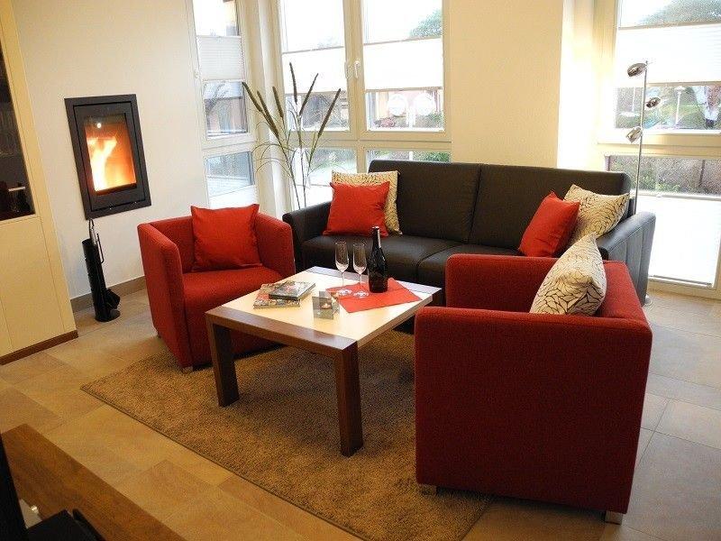 Luxus-Ferienwohnung | Sauna | W-LAN | Kaminofen | Balkon | 3 TV, location de vacances à Ile de Rügen