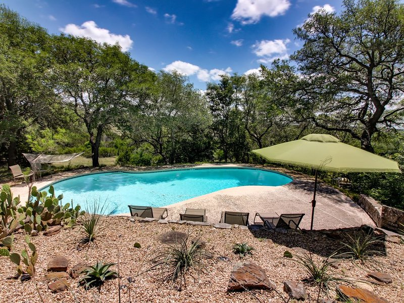 Expansive property w/two pools, hot tub & deck - dogs welcome, vacation rental in Dripping Springs