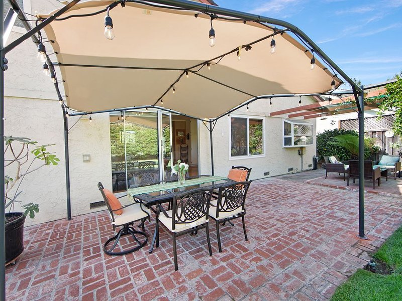 Golf-course-front home w/ garden terrace - steps to Santa Teresa Park, dogs OK!, vacation rental in Morgan Hill