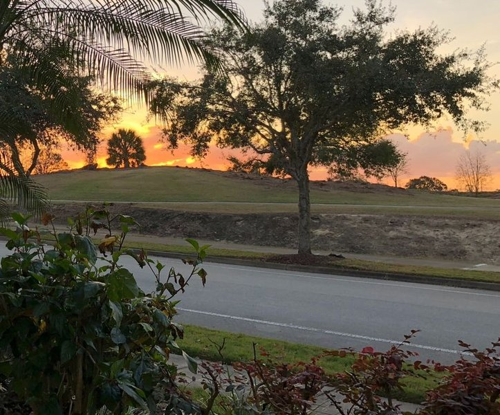 View of golf course from property in the evening