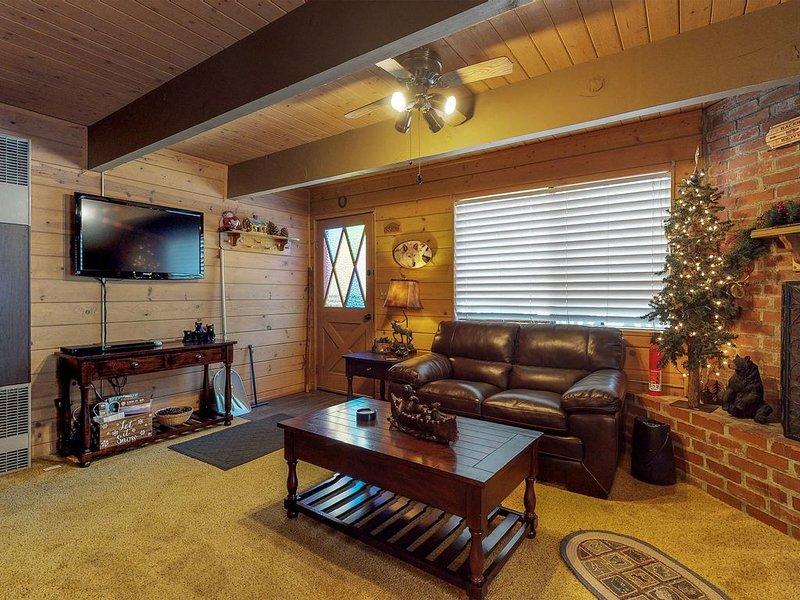 Cozy cabin with inviting fireplace - near skiing, lake & town!, alquiler de vacaciones en Sugarloaf