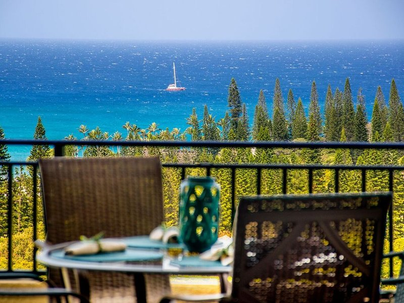 Single Story Penthouse Gold Amazing Ocean Views! Fall Special! Just Reduced!, alquiler de vacaciones en Kapalua
