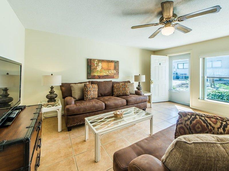 Comfy furnishings and flat screen Tv