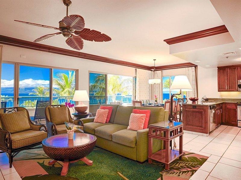 Maui Resort Rentals: Marriott's Maui Ocean Club 2BR Oceanfront Corner Villa, holiday rental in Lanai