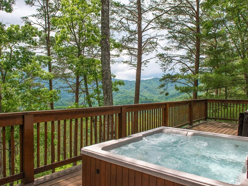 Charming family cabin with private hot tub & secluded location, holiday rental in Maryville