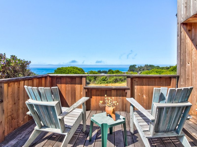 Ocean view home w/ shared pools, tennis & saunas - 2 dogs OK! – semesterbostad i The Sea Ranch