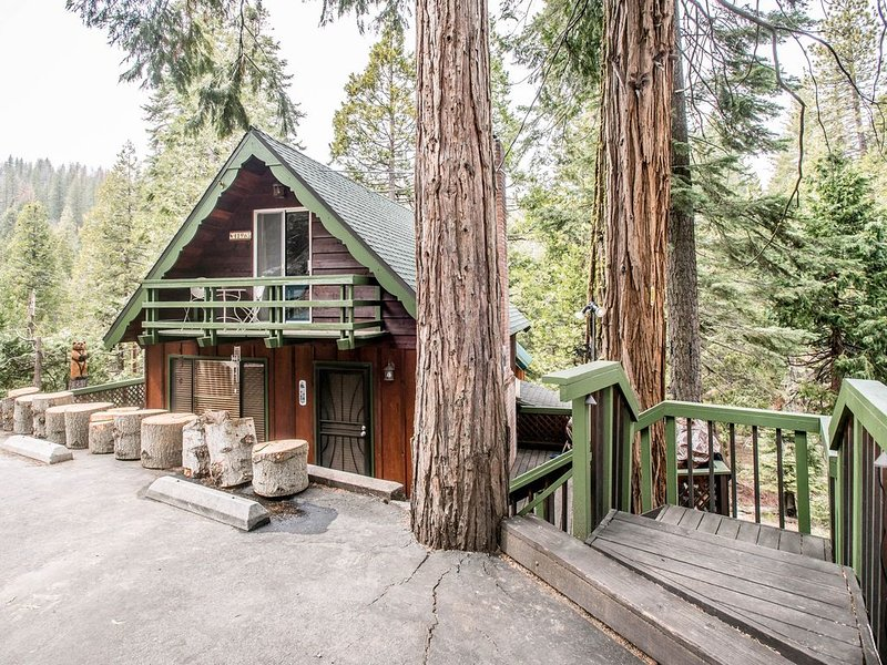 A classic forest cabin with modern amenities - the best of both worlds!, casa vacanza a Shaver Lake