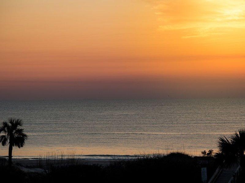 Two Mermaids Condo! Beach view! Easy Walk to Beach! 2 POOLS! Outdoor Sauna!, location de vacances à Wilmington Island