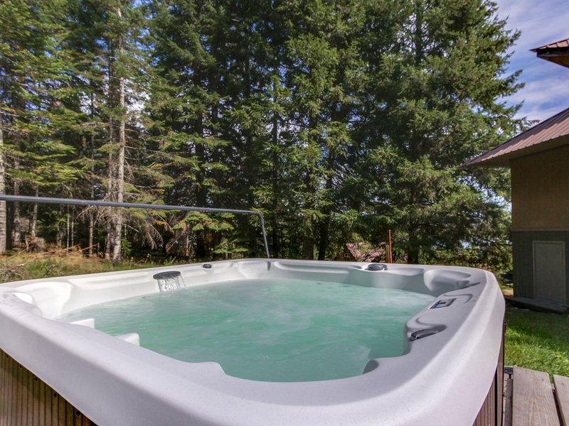 Dog-friendly, river view cabin w/amazing views, private hot tub!, holiday rental in Newport