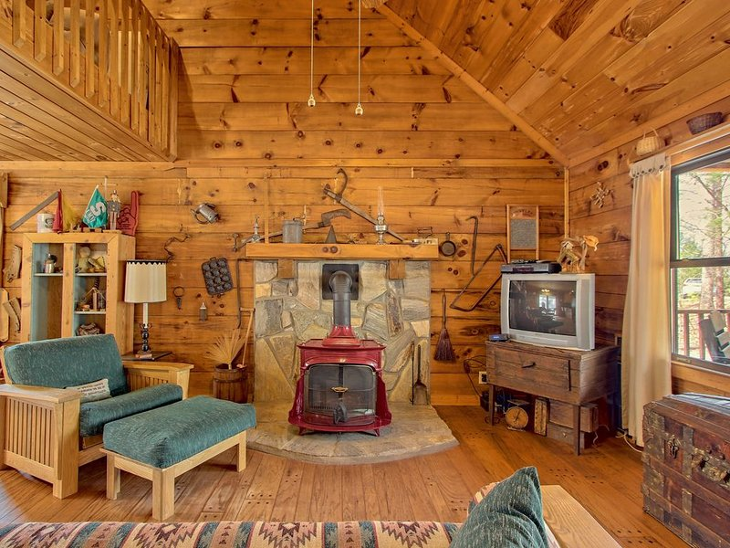 Secluded cabin with a front porch & wood stove - dogs welcome!, holiday rental in Waleska