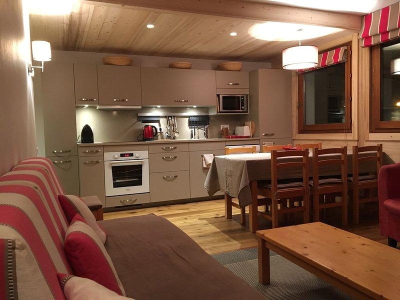 En plein centre de Megève, un appartement calme et très confortable, alquiler vacacional en Megève