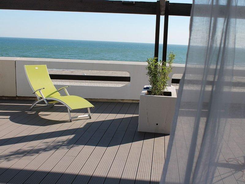 Appart. Front de Mer. Terrasse 100M2. Vue panoramique, location de vacances à La Grande Motte