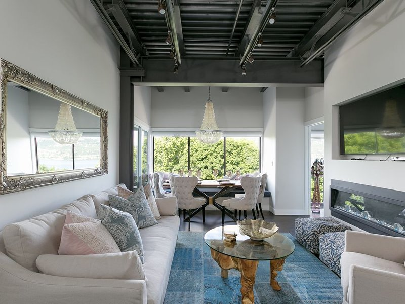 Designer touches everywhere in this spacious living area