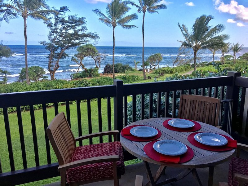 Beautiful 2 Bed & 2 Bath Oceanfront Condo, aluguéis de temporada em Lihue
