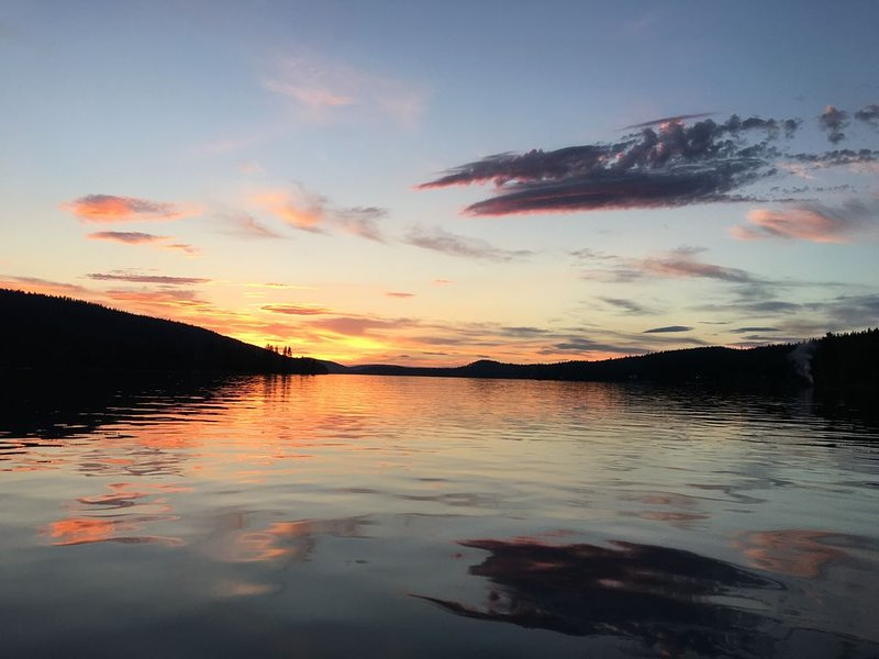 Peace, Serenity and Beautiful Sunsets every night at the Lake House.