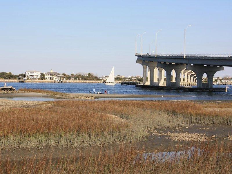 Över Usina Bridge från Downtown St Augustine