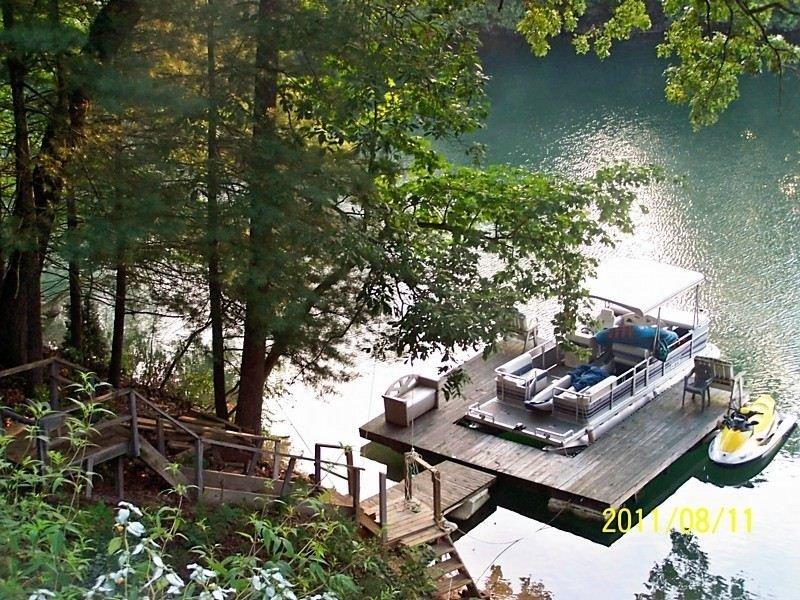 boat dock in Aug 2011 across roadway