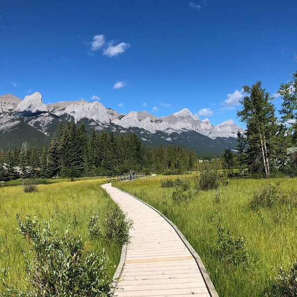 Boardwalk to downtown Canmore (one of the ways to get to downtown)