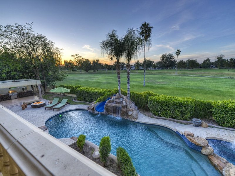 Pool & Golf Course View From Upstairs Balcony