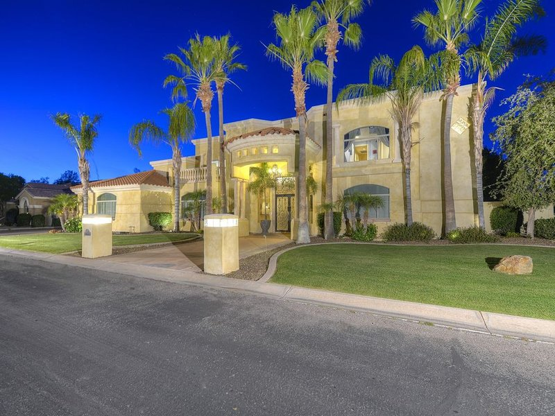 Night view of the front of the home (Picture professionally taken)