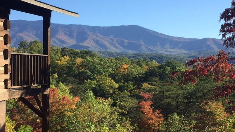 Breathtaking Smoky Mountain views.  Privacy in a charming, story book cabin