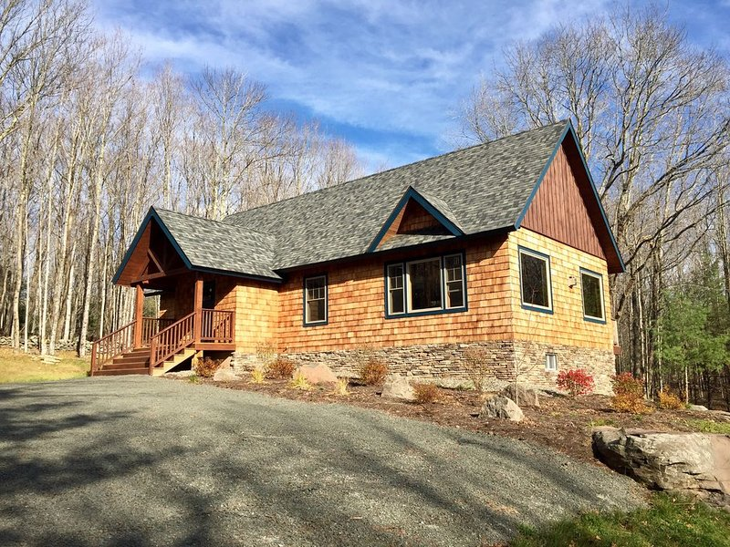 Custom Built Luxury Cabin on 2.5 Acres, 10 Mins to Windham & Hunter Mountains! – semesterbostad i West Kill