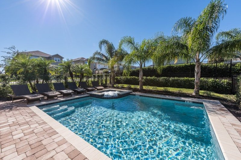 Enjoying your private pool/spa!  Imagine yourself with your family/group here.
