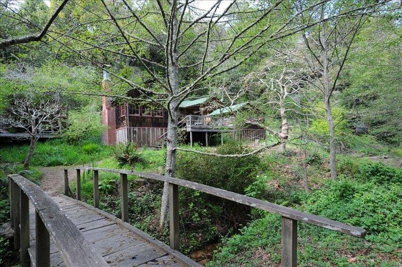 Foot bridge across creek