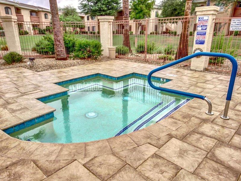 Large community spa for soaking!