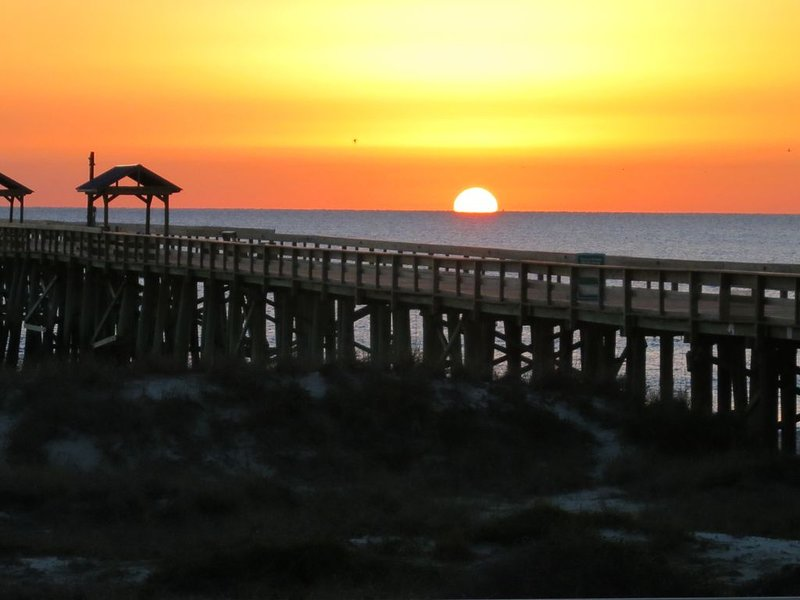 1st Floor Remodeled Kitchen & Mstr Bath. Private Pier -Oceanfront! Free WIFI, aluguéis de temporada em Fernandina Beach