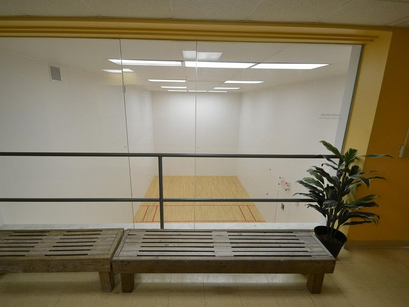 Racquetball court in clubhouse