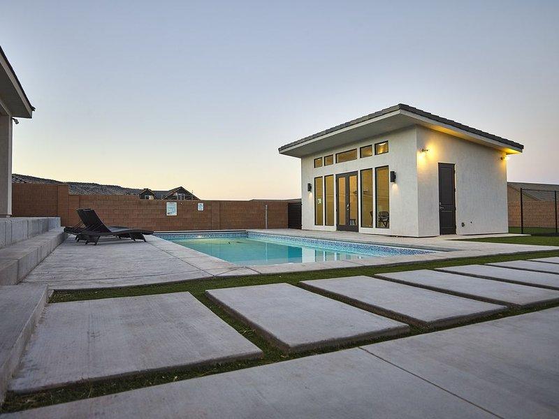 Pool house avec salle de bain et ping-pong