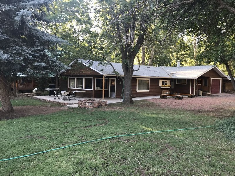 Get Away from the virus! Mountain Air & Elk. Spacious Cabin, 1-acre fenced lot., vacation rental in Pine