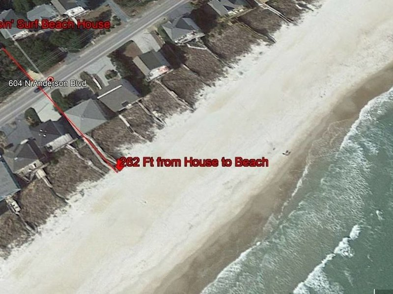 Only 262ft from house to beach!!!