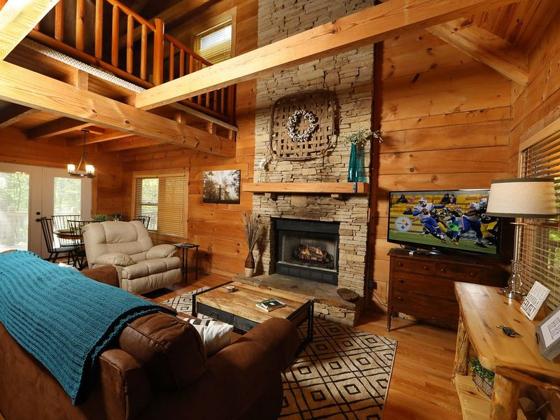 Blue Door Cabin - a getaway cabin within walking distance of Townsend, TN, vacation rental in Townsend