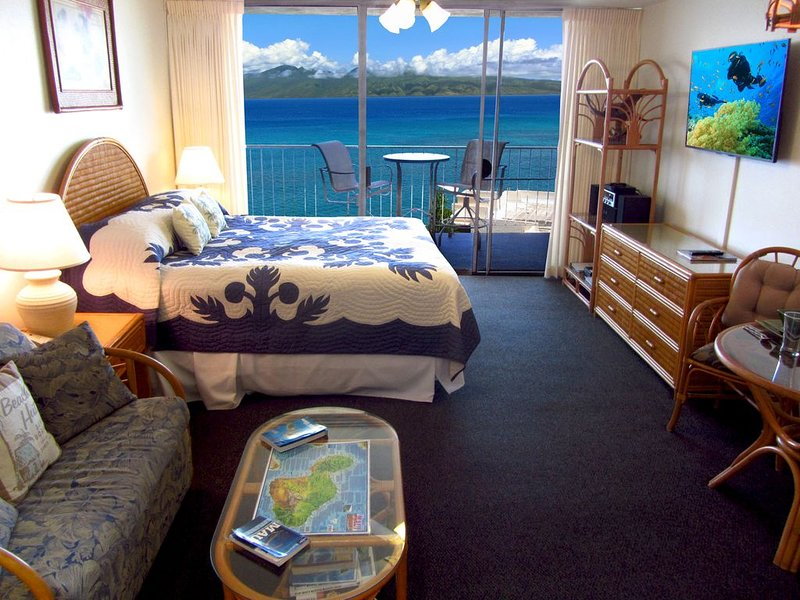 The Best Ocean View Studio Condo at the Royal Kahana Oceanfront Resort, vacation rental in Lahaina