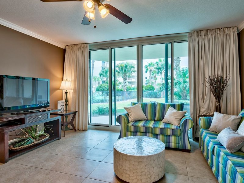Preferred Courtyard view at this walk-out unit. Just walk out to the pools/beach
