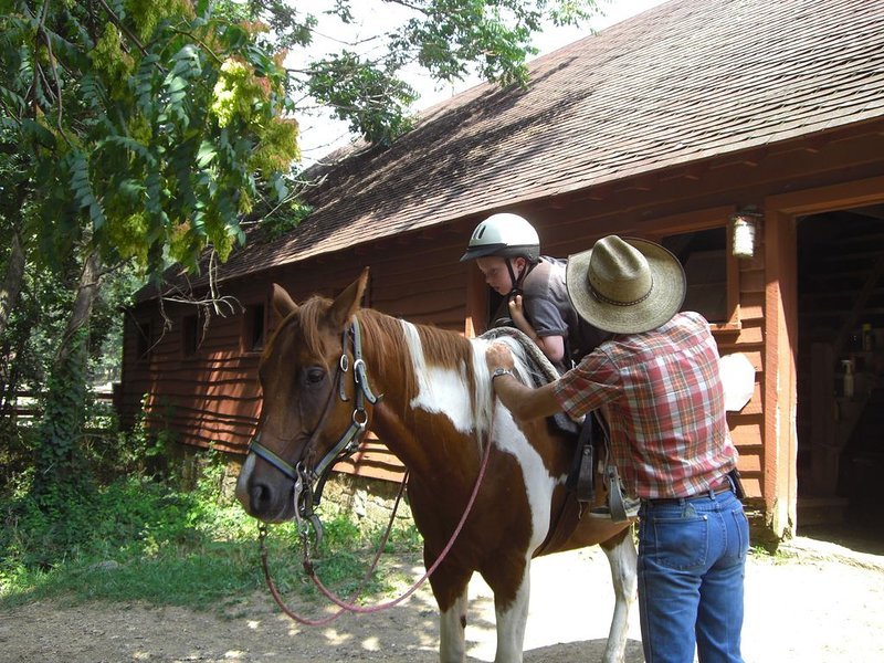 Horseback riding and swimming at Cacapon State Park 10 minutes away