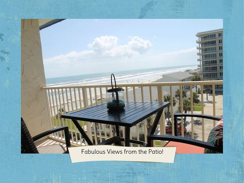 OCEAN VIEW AND STEPS TO THE BEACH!  Totally Remodeled and Family Friendly!, vacation rental in New Smyrna Beach